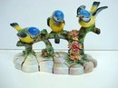 ADDERLEY COMPOSITION of 3 BIRDS & FLOWERS