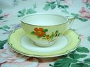 GRINDLEY HAND PAINTED CUP & SAUCER