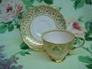 TUSCAN DEMITASSE CUP and SAUCER Hand Decorated