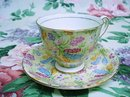 WINDSOR BONE CHINA CUP and  SAUCER Chintz Style