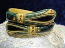 MAGICAL PAINTED JEWELLED BAKELITE BRACELET