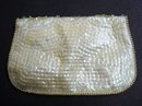 FANCY ANTIQUE EVENING BEADED/SEQUENCE PURSE - BAG
