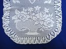HAND CROCHEY - FILET LACE - TABLE TOPPER