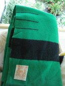 LOVELY GREEN HUDSON BAY 3 1/2 POINT- 100% WOOL