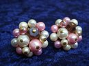 BEAUTIFUL VINTAGE FAUX PEARL CLIP-ON EARRINGS
