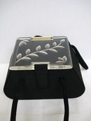 FABULOUS BLACK & CARVED LUCITE PURSE - BAG