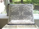 LOVELY CROCHET FILET LACE DECORATIVE PILLOW