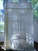 LOVELY ANTIQUE HAND MADE LACE LARGE TABLECLOTH