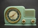 DECO GREEN BAKELITE MUSICAL CLOCK