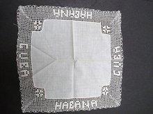 HANKIE-HAND CROCHET LACE CUBA - HABANA
