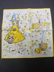 VINTAGE CHILDS HANKIE - PRETTY AND COLORFUL