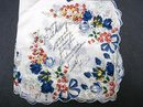 FLORAL PRINTED - HAPPY BIRTHDAY HANKIE