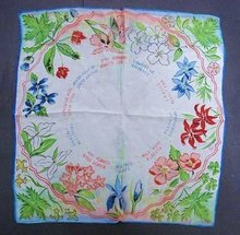 SILK HANKIE CANADIAN FLOWERS/PROVINCES