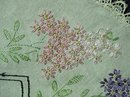 ANTIQUE TABLECLOTH-SILK EMBROIDERY-UNIQUE
