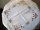 FINEST CUTWORK&EMBROIDERY TABLECLOTH