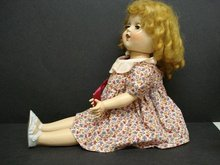 VINTAGE LARGE COMPO DOLL by RELIABLE
