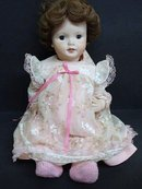 VINTAGE LARGE PORCELAIN DOLL
