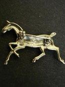 VINTAGE  BROOCH - RHINESTONE  HORSE FIGURE