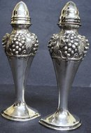 ART DECO SILVER PLATE SALT&PEPPER SHAKERS
