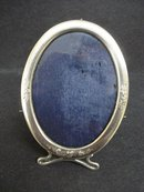 MINIATURE BIRKS STERLING OVAL PHOTO FRAME