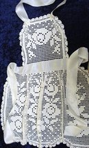 ANTIQUE FILET LACE LADIES APRON