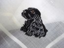 HANKIE - MASTERFUL EMBROIDERY  LOVELY DOG