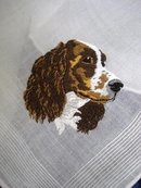 LOVELY HANKIE - EMBROIDERY - DARLING DOG