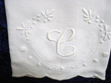 HUGE VICTORIAN TOWEL-EMBROIDERY&MONO C