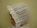 LOVELY VINTAGE CROCHET HAT for DOLL or BABY