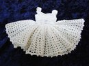 Fantastic Vintage Doll Dress Hand Crochet