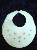 PRETTY BIB for BABY - PETIT POINT EMBROIDERY