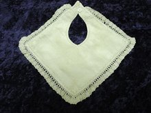 PRETTY BIB for BABY or DOLL - HAND MADE