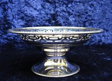 PEDESTAL DISH - OPEN WORK - STERLING SILVER