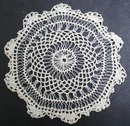 UNUSUAL  CROCHET  LACE DOILY