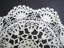 PRETTY   CROCHET  LACE VINTAGE DOILY