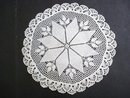 ANTIQUE UNCOMMON CROCHET  LACE  DOILY