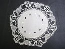 ANTIQUE LOVELY DOILY - CLUNY LACE BORDER