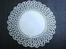 ANTIQUE LOVELY DOILY-LINEN CENTER and LACE