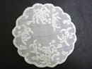 EXQUISIT DOILY - WHITE on WHITE EMBROIDERY