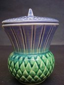 LOVELY FIGURAL JAM POT - SCOTTISH THISTLE
