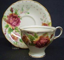 Paragon TeaCup&Saucer-Golden Emblem