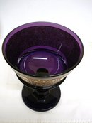 1800's SIGNED MOSER- GOLD INLAID PURPLE GLASS