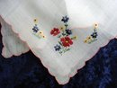 PRETTY HAND MADE EMBROIDERY  - HANKIE