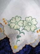 HAND MADE EMBROIDERY/APPLIQUE HANKIE