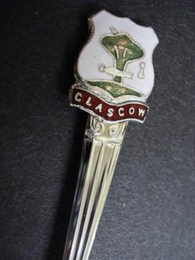 LOVELY SHEFFIELD SOUVENIR SPOON - GLASGOW