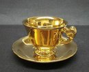 ROYAL WINTON TEACUP & SAUCER - GOLD