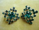 VINTAGE RHINESTONE SCREWBACK EARRINGS