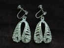 LOVELY RHINESTONE SCREWBACK EARRINGS