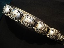 HAND MADE DENMARK STERLING LD BRACELET