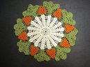 HAND CROCHET 3 DIMENSIONAL LARGE ROUND DOILY